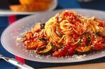 夏野菜のトマトソーススパゲティー