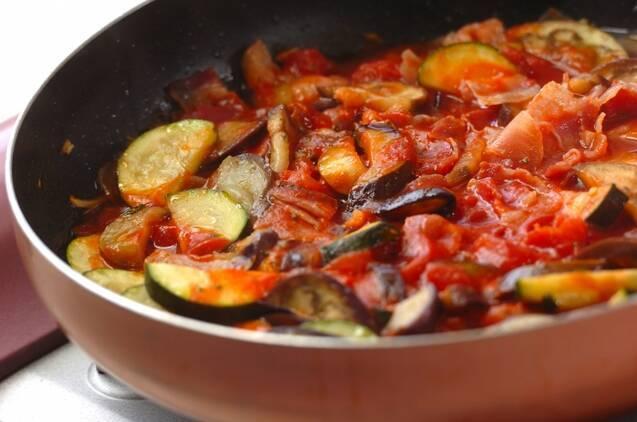 夏野菜のトマトソーススパゲティーの作り方の手順5
