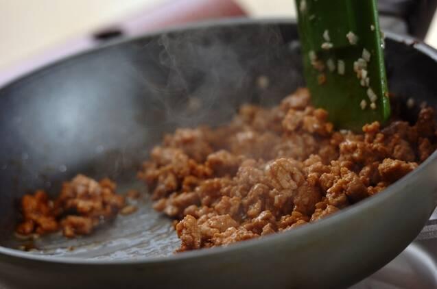 まろやか豆乳の坦々素麺の作り方の手順2