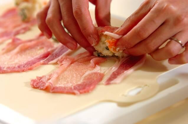 ポテトサラダの肉巻きの作り方の手順1