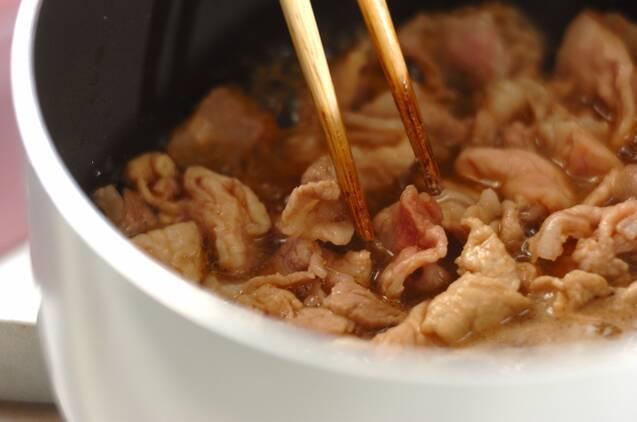 肉ゴボウとマイタケの混ぜご飯の作り方の手順2