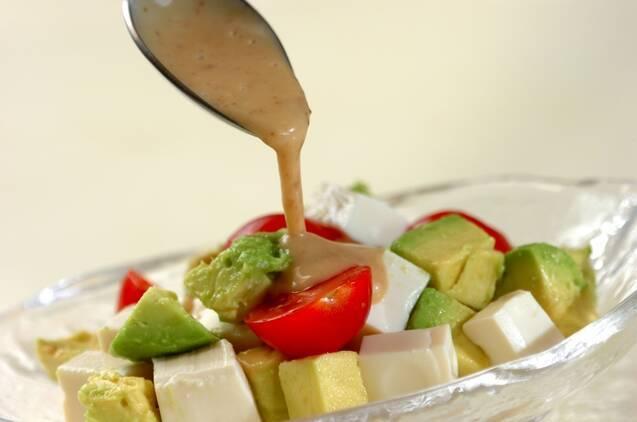 豆腐サラダの作り方の手順4