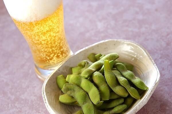 枝豆・ビール