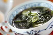 ホウレン草とネギの中華スープ