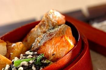 鮭のユズコショウマヨ焼き