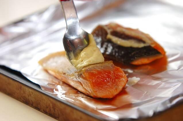 鮭のユズコショウマヨ焼きの作り方の手順2