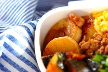 長芋とベーコンの炒め物