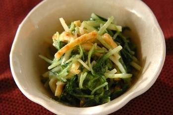 水菜の酢みそ和え