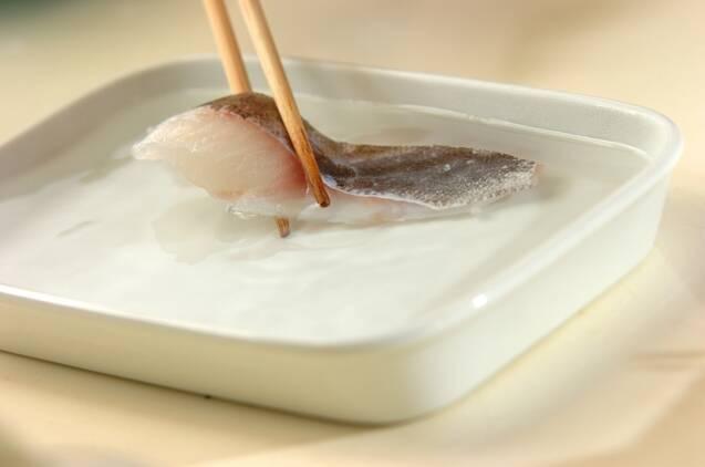 タラのちり鍋の作り方の手順2