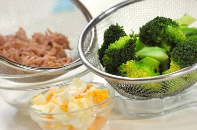 ブロッコリーと卵のチーズ焼きの作り方の手順1