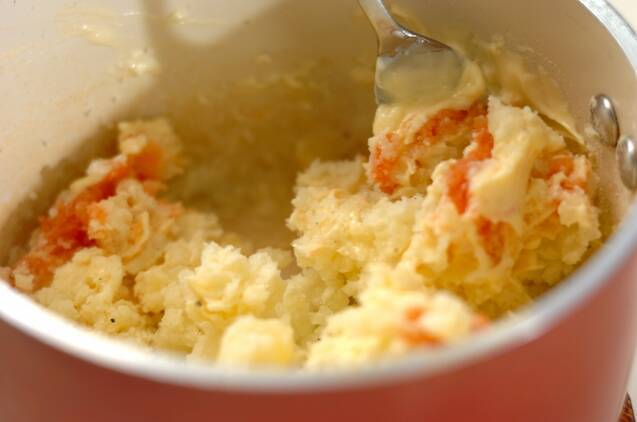 タラコポテトのチーズ焼きの作り方の手順4