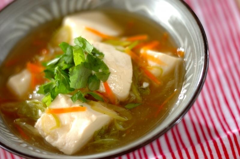 豆腐と白菜の和風あんかけ