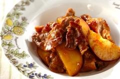 豚こま肉とサツマイモのママレード煮