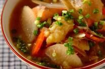 北海道の味・鮭と野菜の石狩汁