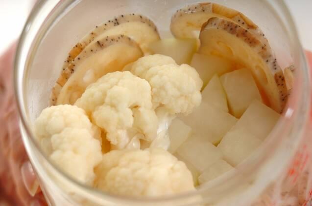 冬野菜のカレーピクルスの作り方の手順3