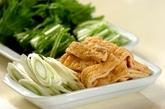 豚肉と水菜のトロロポン酢鍋の下準備1