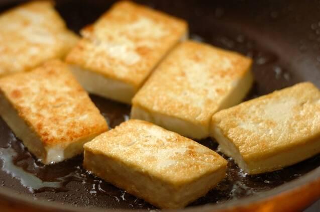 豆腐の照り焼きの作り方の手順2
