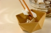 長芋ともずくの和え物の作り方1