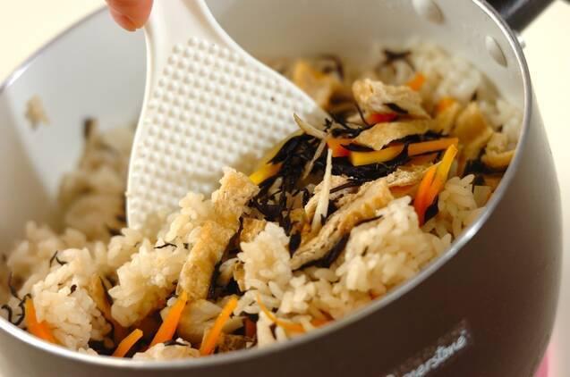ヒジキと根菜の炊き込みご飯の作り方の手順4