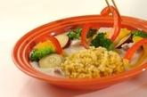 長芋と豆乳のシチュー 玄米ターメリックピラフ添えの献立の作り方5