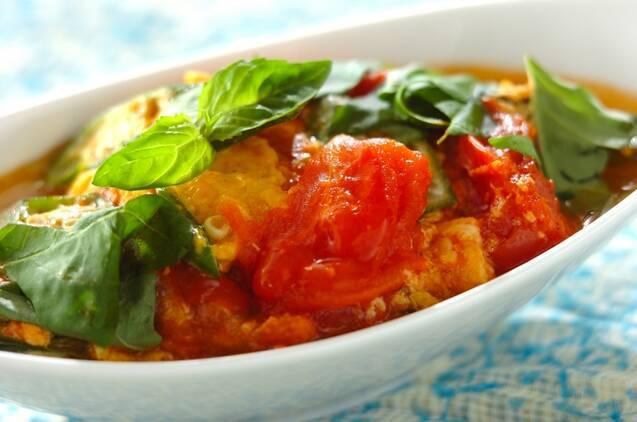 オクラとトマトの炒め煮