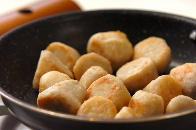 里芋のおかかだしの作り方の手順2