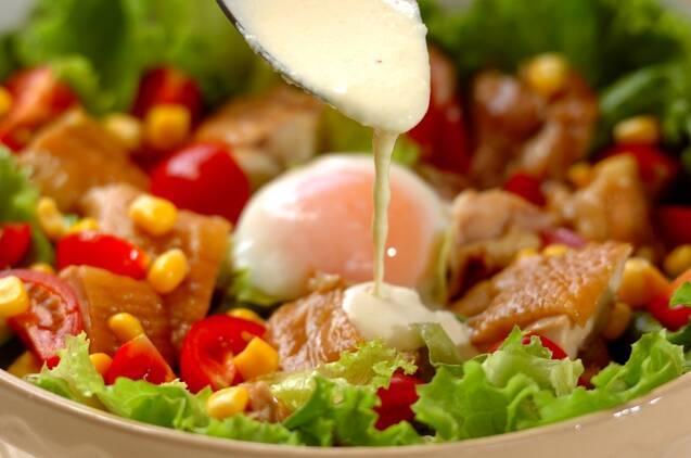 テリヤキチキンのシーザーサラダの作り方の手順5