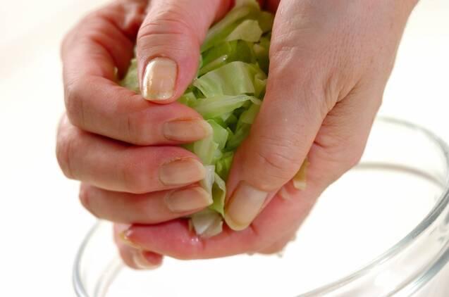 キャベツとエビの和風おかかサラダの作り方の手順4
