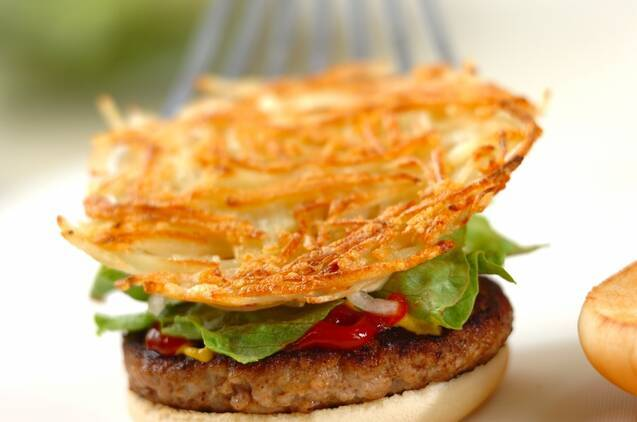 カリカリポテトハンバーガーの作り方の手順8