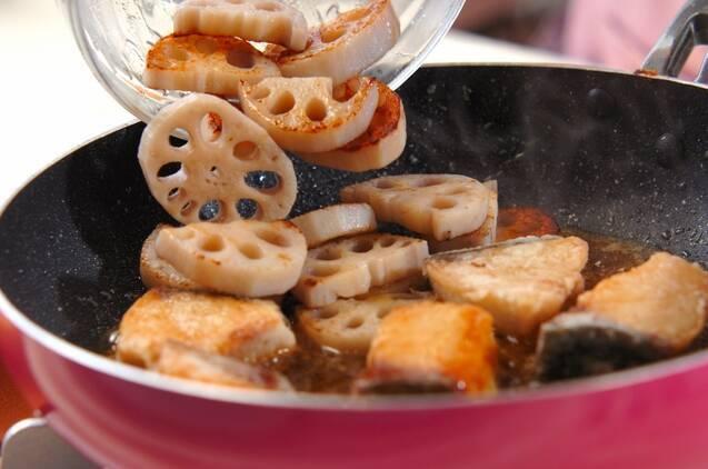 ブリとレンコンの照り焼きの作り方の手順5