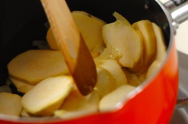 サツマイモの冷製スープの作り方の手順2
