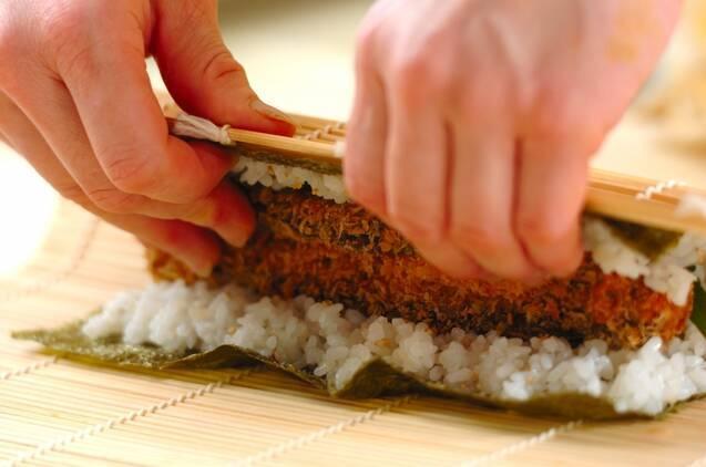 サバフライのり巻きの作り方の手順6