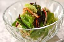 キャベツとスナップエンドウの中華サラダ