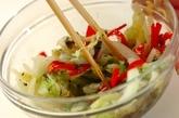 白菜のゴマ和えの作り方2