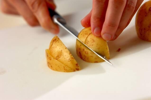 新ジャガとタケノコのソテーの作り方の手順1