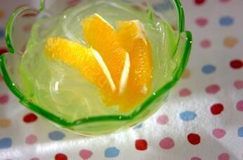 葛きりのオレンジソース