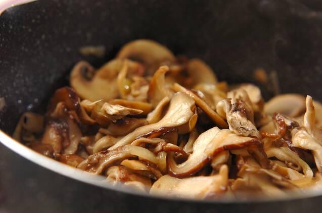 キノコのポタージュスープの作り方の手順3