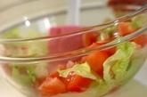 カニ缶で作る冷製パスタの作り方1