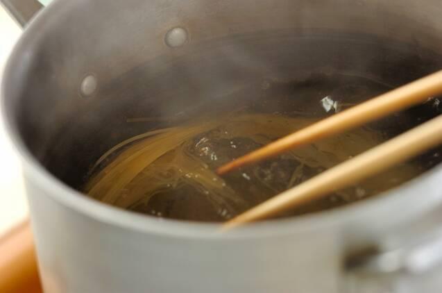カニ缶で作る冷製パスタの作り方の手順3
