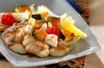 白身魚とトマトのオーブン焼き
