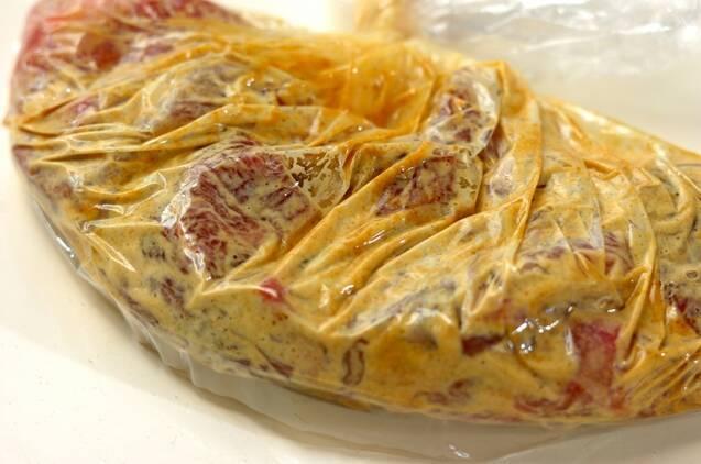 牛肉のカレーブロシェットの作り方の手順1