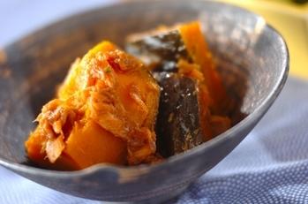 カボチャとツナの煮物