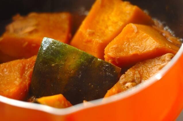 カボチャとツナの煮物の作り方の手順2