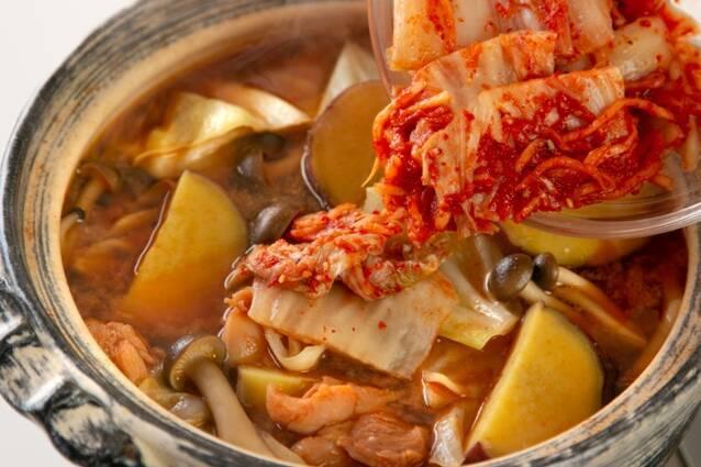 キムチチーズタッカルビ鍋の作り方の手順5