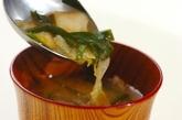 ニラとキムチのみそ汁の作り方2