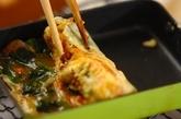 ホウレン草と小エビの卵焼きの作り方3