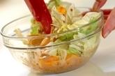 柿と白菜のサラダの作り方1