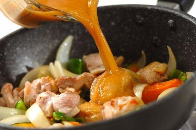 鶏肉のゴマみそ炒め煮の作り方の手順4