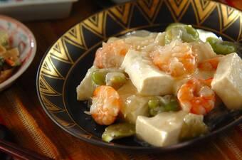 豆腐の塩炒め