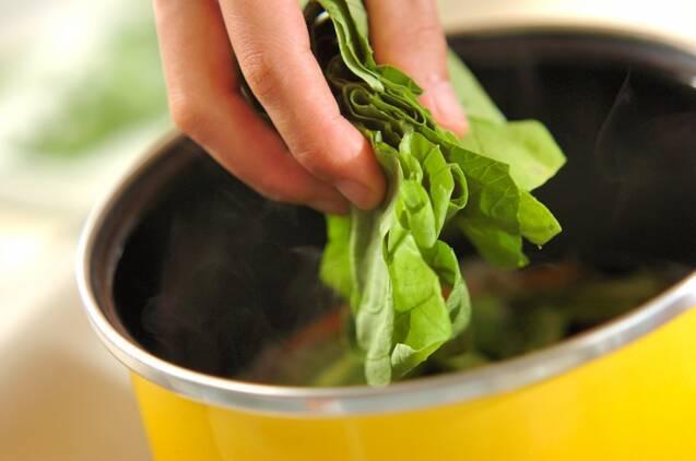小松菜とジャコのサッと煮の作り方の手順4
